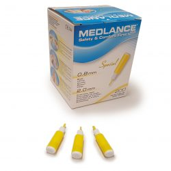 Medlance plus Special -turvalansetti, viilto 0,8 x 2,0 mm, keltainen