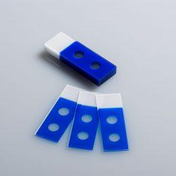 Objektilasi, 2 kuoppaa Ø 11mm, sininen