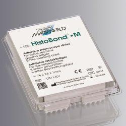 Objektilasi HistoBond+ M, adhesiivinen, 76 x 26 mm, valkoinen kirjoitusalue