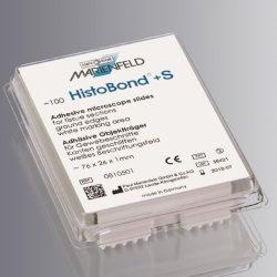 Objektilasi HistoBond+ S, adhesiivinen, 76 x 26 mm, valkoinen kirjoitusalue