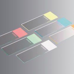 Objektilasi Unimark, koko 76 x 26 mm, valkoinen kirjoitusalue