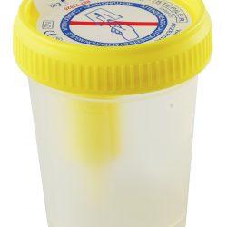 Vacutest virtsanäytepurkki 60 ml, steriili, yksittäispakattu